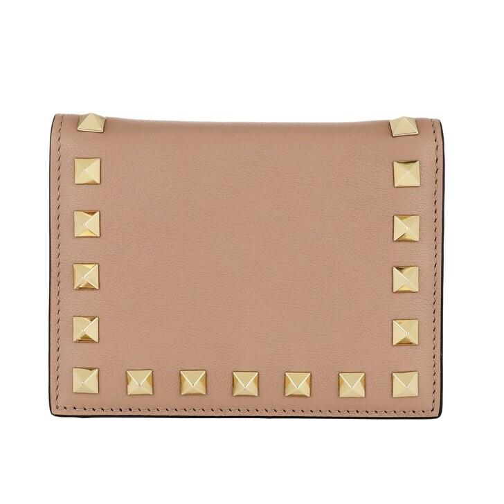 wallets, Valentino Garavani, Small Continental Wallet Leather Poudre