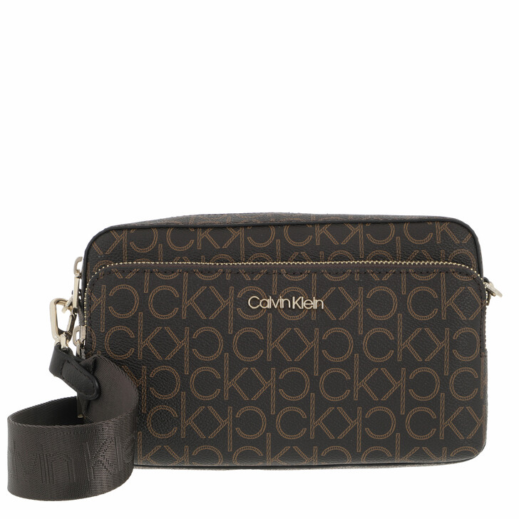 bags, Calvin Klein, CK Must Camera Bag With Pkt Large Mono Brown Mono