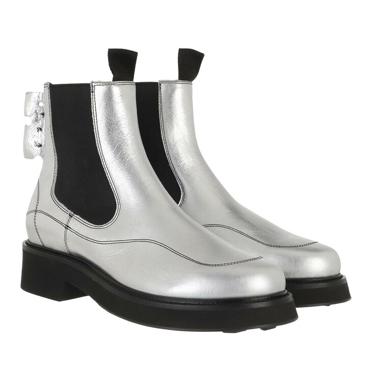 Schuh, Off-White, Laminate Chelsea Boot  Silver