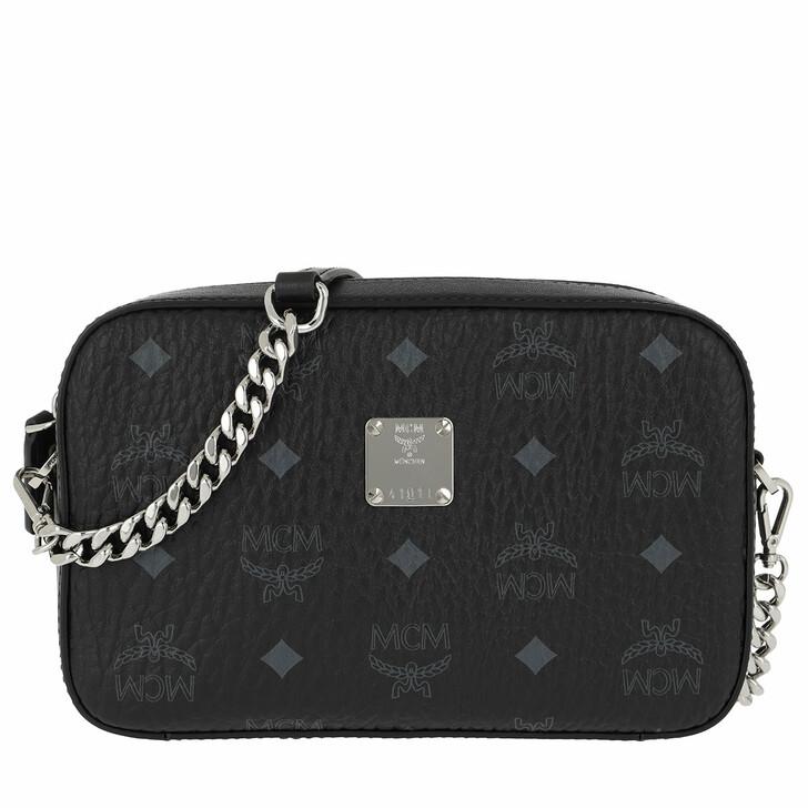 bags, MCM, Visetos Original Camera Bag Black