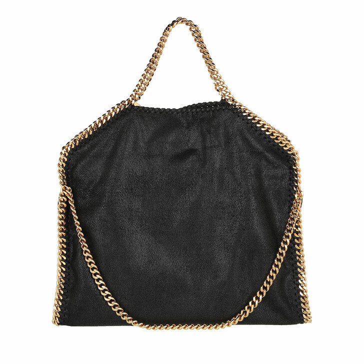Handtasche, Stella McCartney, Falabella Shaggy Deer S Tote Black/Gold