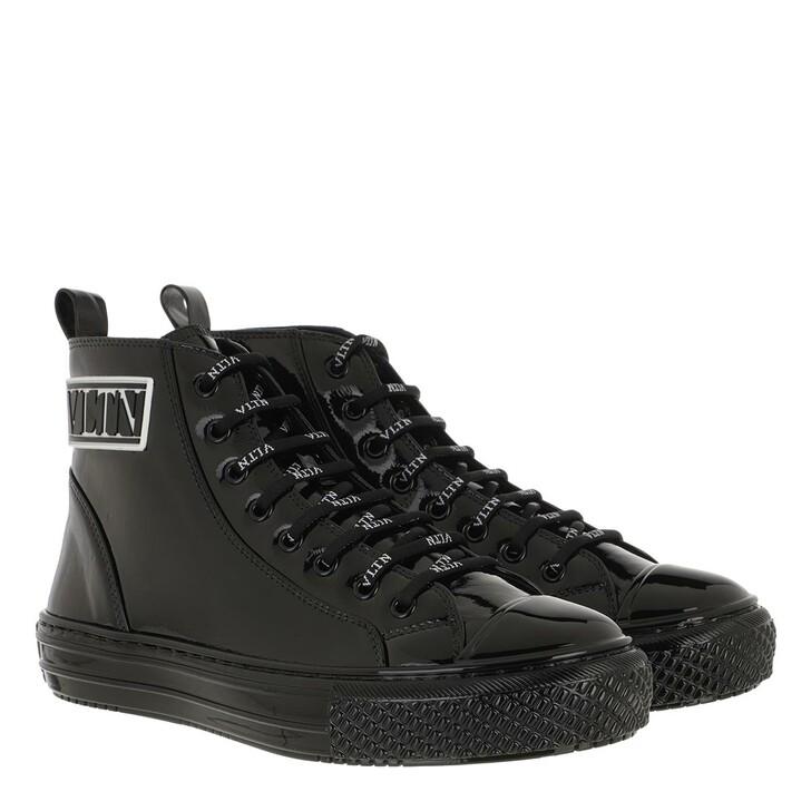 Schuh, Valentino Garavani, VLTN High Top Sneakers Leather Black