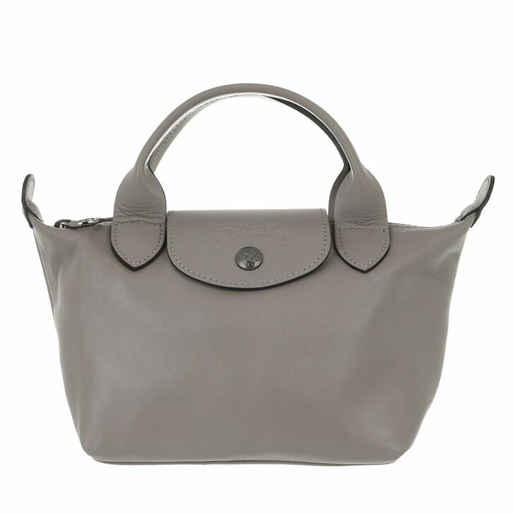 bags, Longchamp, Le Pliage Cuir Handbag  Turtle Dove