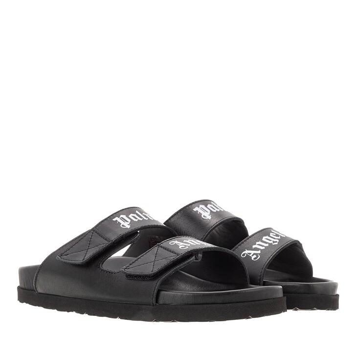 shoes, Palm Angels, Palm Angels Sandal Black White