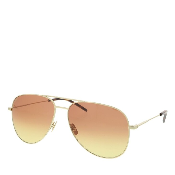 Sonnenbrille, Saint Laurent, CLASSIC 11-053 59 Sunglasses Unisex Metal Gold