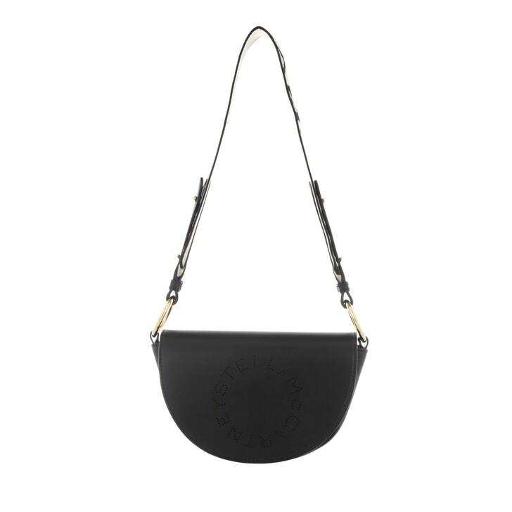 Handtasche, Stella McCartney, Flap Shoulder Bag Eco Soft Black