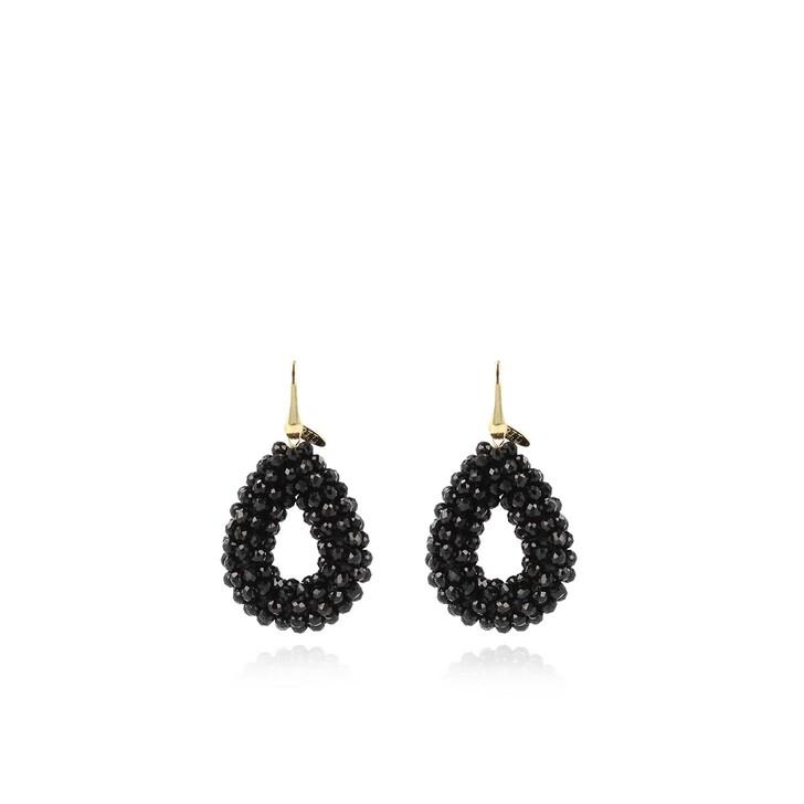 earrings, LOTT.gioielli, Earring Glassberry Drop S Black