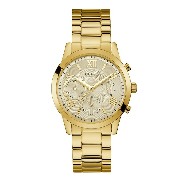 Uhr, Guess, Women Quartz Watch Solar Gold