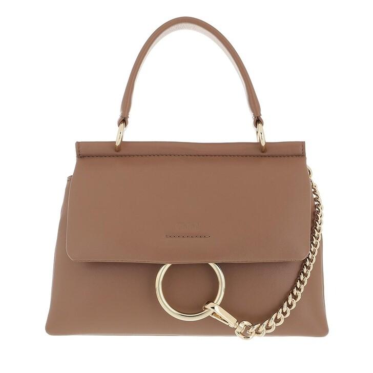 bags, Chloé, Small Faye Soft Top Handle Bag Desert Taupe