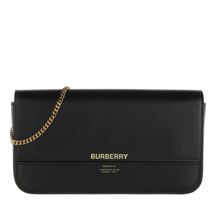 Handtasche, Burberry, Wallet On Chain Leather Black