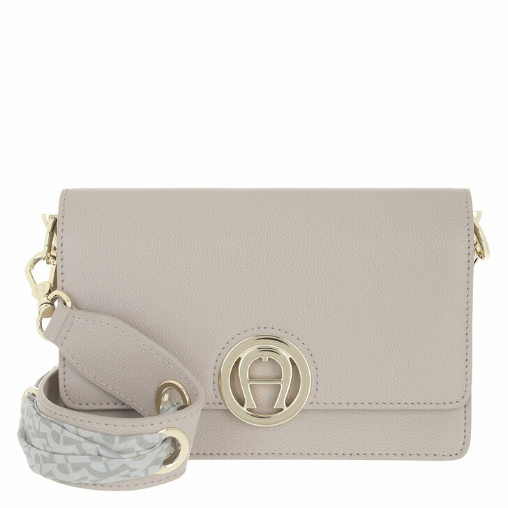 bags, AIGNER, Livia Crossbody Bag Clay Grey