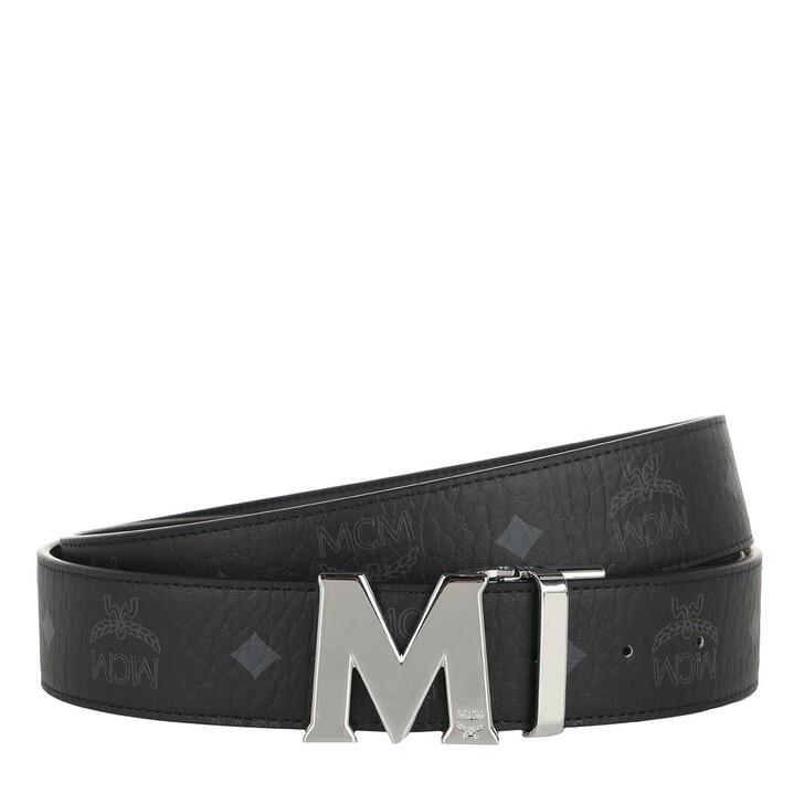 Gürtel, MCM, Reversible Belt Sh balt 3.8 130 (Pu)  Black