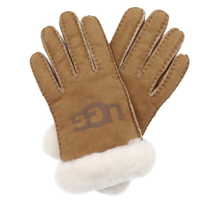 Handschuh, UGG, W Sheepskin Logo Glove Chestnut