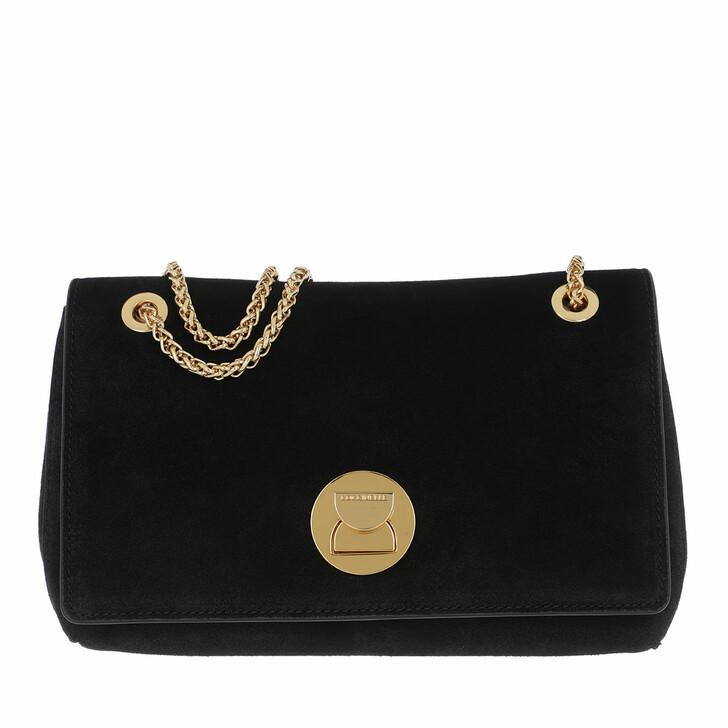 Handtasche, Coccinelle, Liya Suede Crossbody Bag Noir/Noir