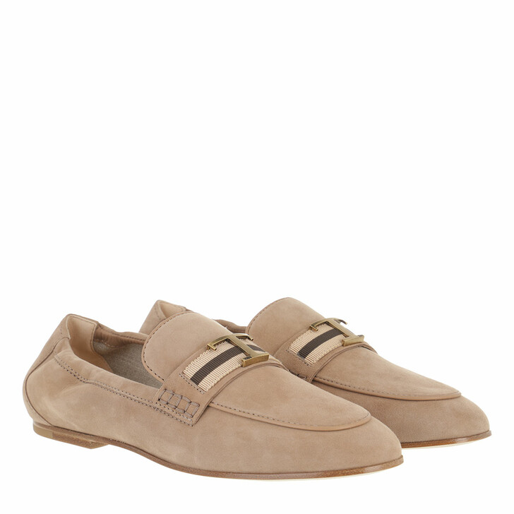 Schuh, Tod's, Loafers Soft Suede Beige