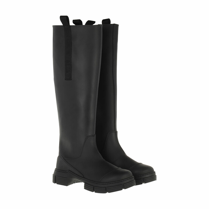 Schuh, GANNI, Recycled Rubber Country Boots Black