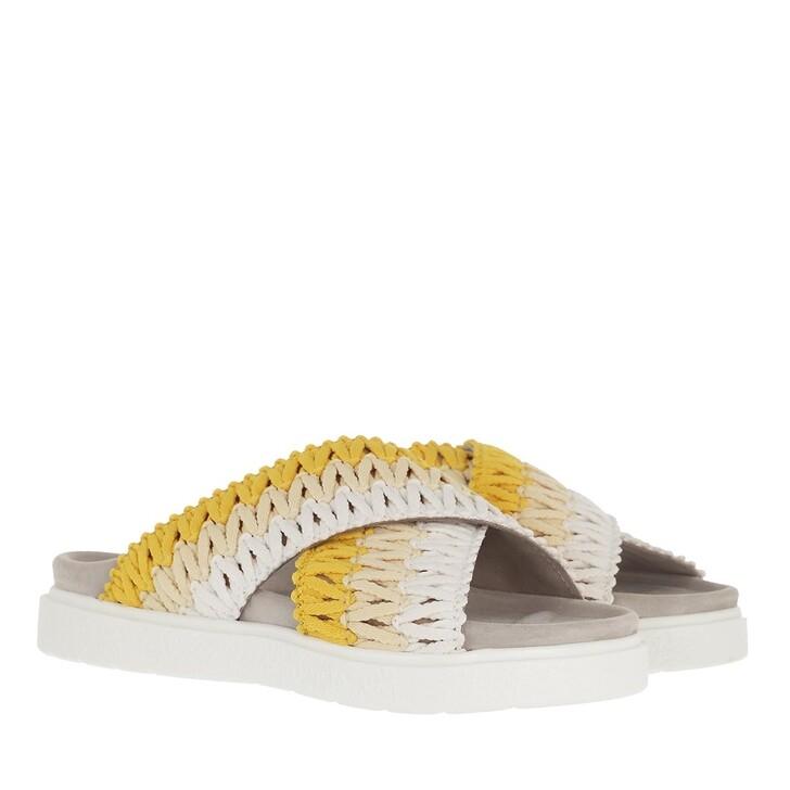 Schuh, INUIKII, Knitted Crossed Sandals Yellow