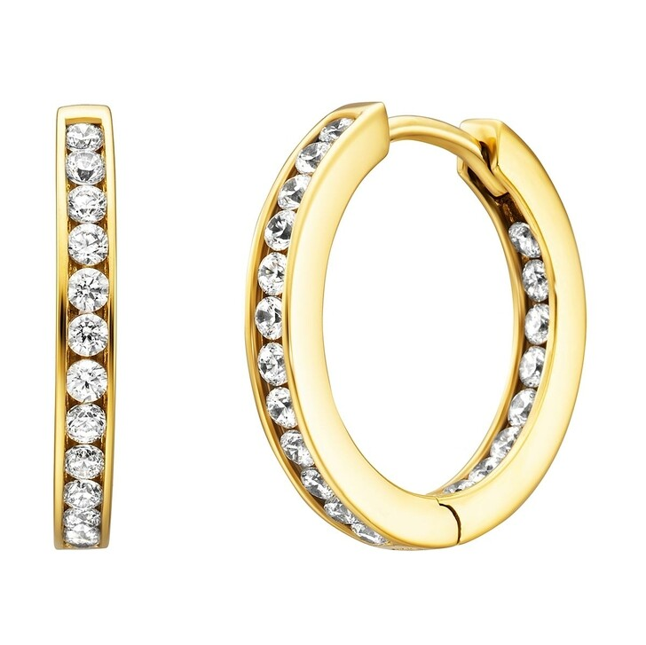 Ohrring, BELORO, Creole Earring Zirconia  Gold-Plated