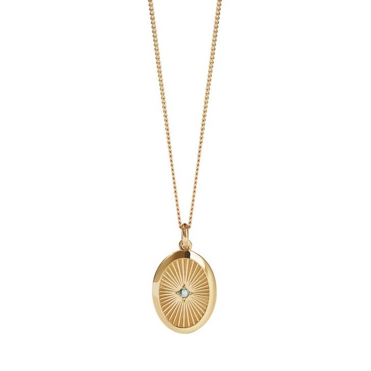 necklaces, Meadowlark, Inez Necklace Green Sapphire Yellow Gold