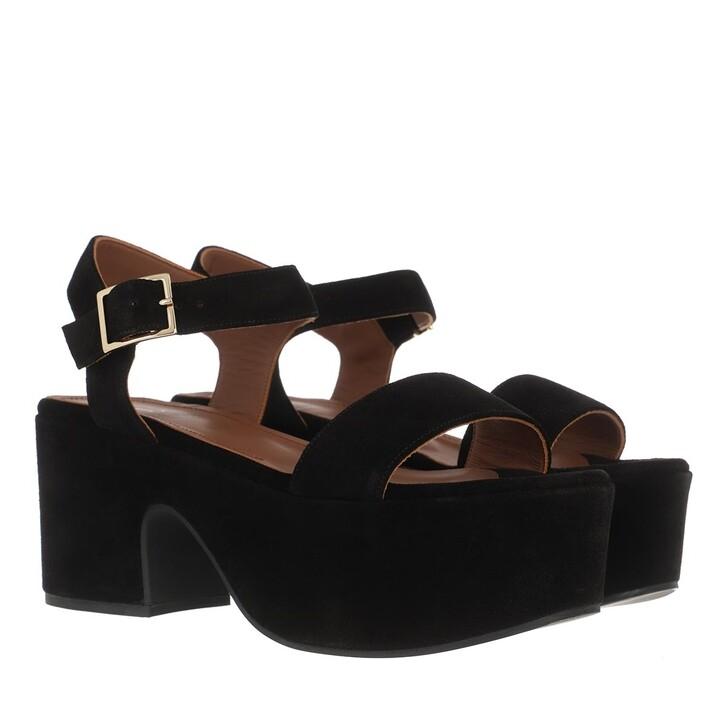 Schuh, L´Autre Chose, Wedge Sandals Calf Suede Black
