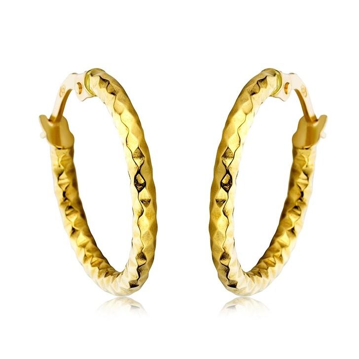 Ohrring, DIAMADA, Creole Earring  14KT Yellow Gold