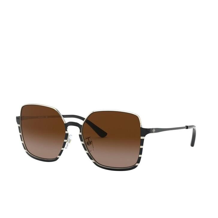 Sonnenbrille, Tory Burch, Woman Sunglasses Metal Shiny Black Metal