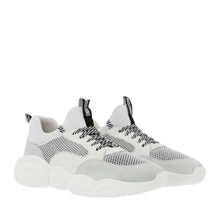 Schuh, Moschino, Sneakers Orso30 Mix  Bianco