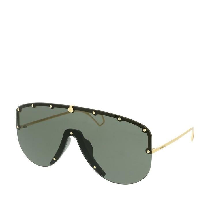 Sonnenbrille, Gucci, GG0667S-001 99 Sunglasses Gold-Gold-Grey