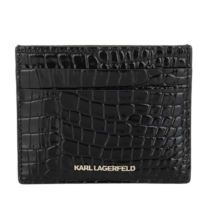 Schal, Karl Lagerfeld, Seven Croco Classic Card Holder Black