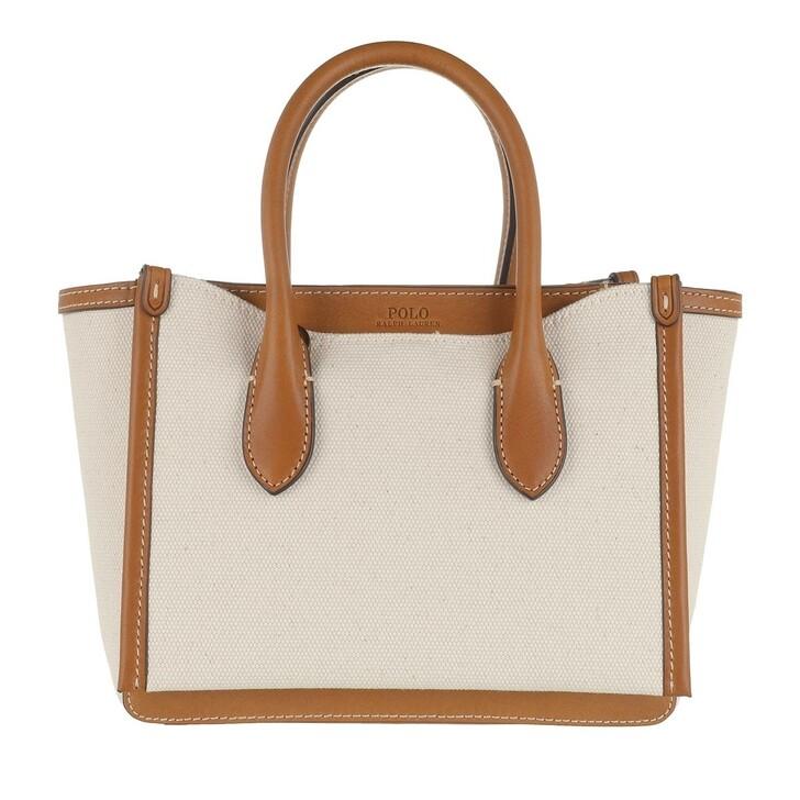bags, Polo Ralph Lauren, Mini Sloane Satchel Mini Natural/Cuoio
