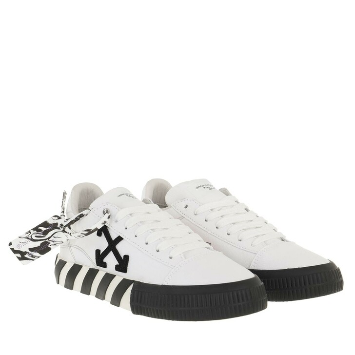 Schuh, Off-White, Low Vulcanized Canvas White Black