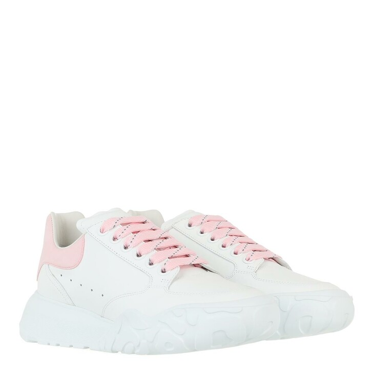shoes, Alexander McQueen, Court Trainer Calf Leather White/Rose
