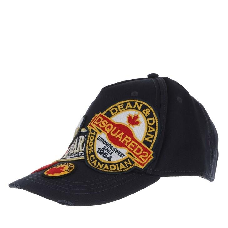 Mütze, Dsquared2, Badges Baseball Cap Gabardine Navy