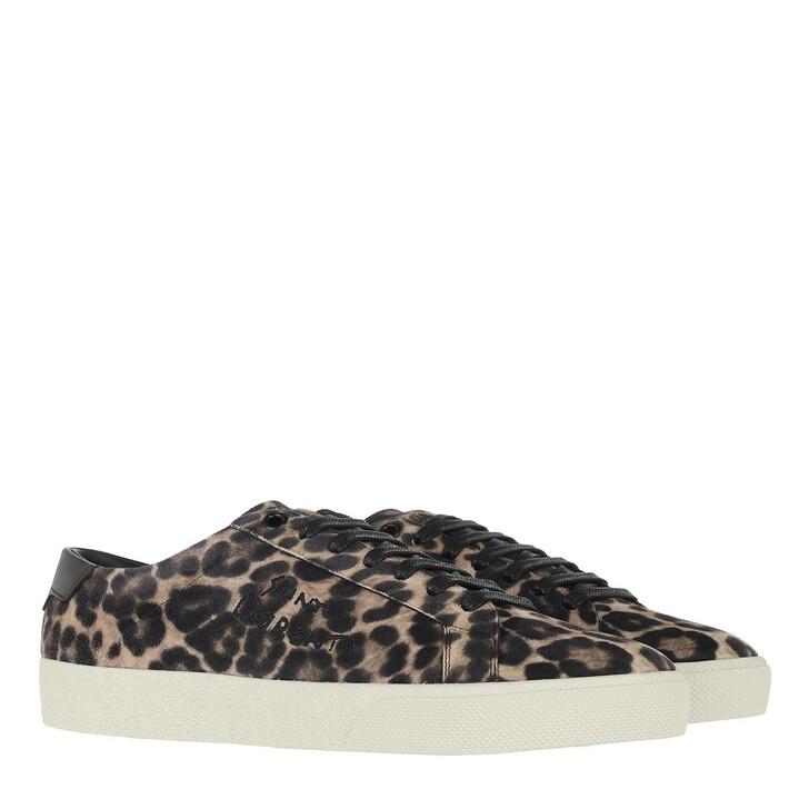 Schuh, Saint Laurent, Court Sneakers Beige/Black