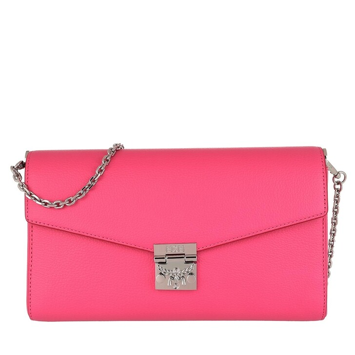 Handtasche, MCM, Medium Flap Cross Leather Sugar Pink