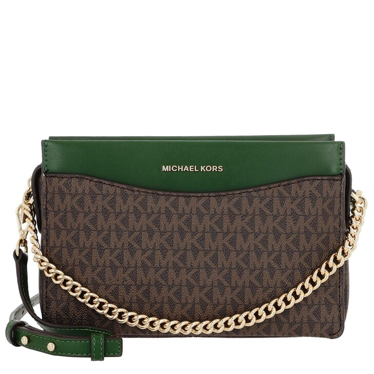 Handtasche, MICHAEL Michael Kors, Jet Set Large Convertible Chain Crossbody Bag Moss