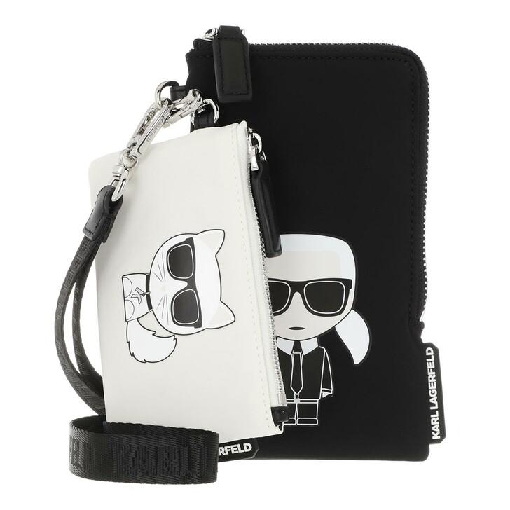 Handtasche, Karl Lagerfeld, Ikonik Nylon Double Pouch Black