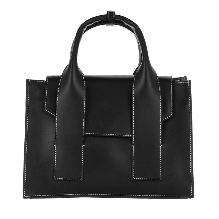 Handtasche, GANNI, Top Handle Bag Black