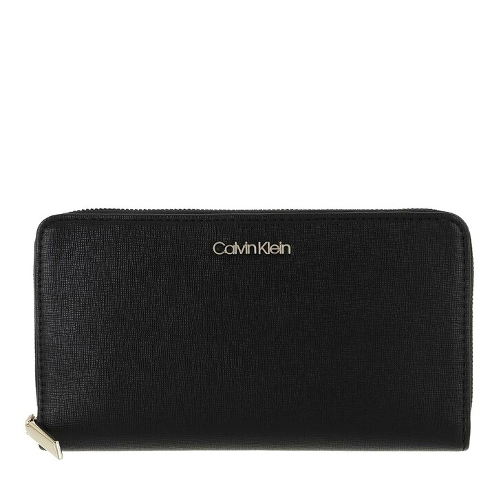 Geldbörse, Calvin Klein, Wallet Xl Saffiano Black