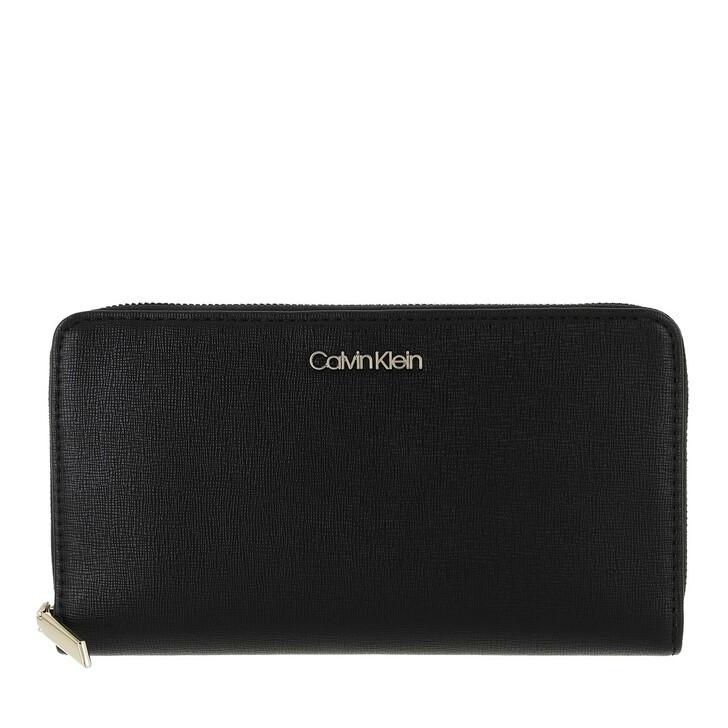 wallets, Calvin Klein, Wallet Xl Saffiano Black