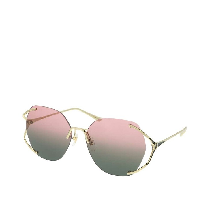 Sonnenbrille, Gucci, GG0651S-001 59 Sunglass WOMAN METAL Gold