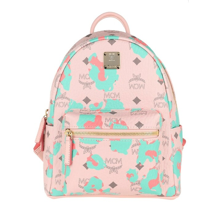 Reisetasche, MCM, Stark Backpack Mini Powder Pink