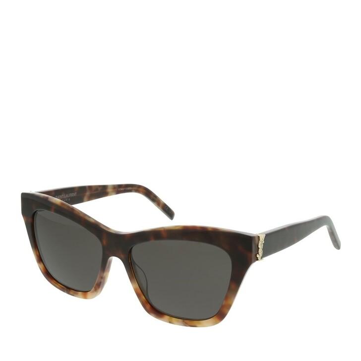 Sonnenbrille, Saint Laurent, SL M79-003 56 Sunglasses Woman Havana