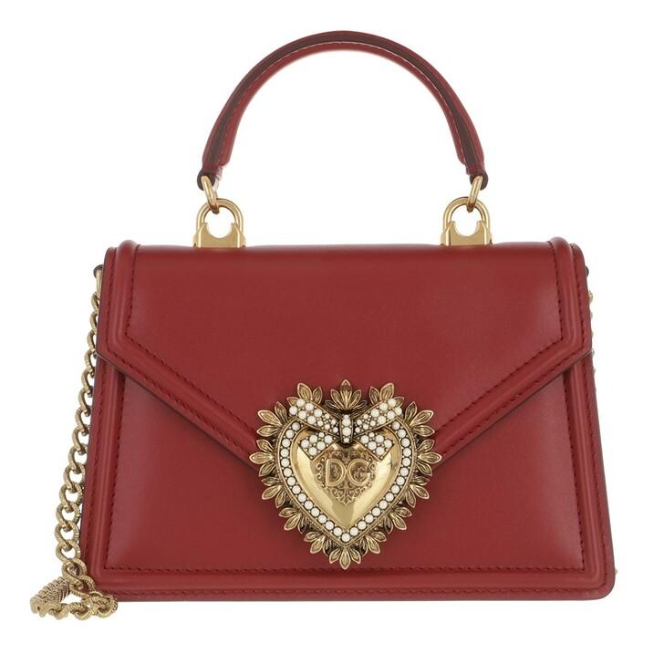 Handtasche, Dolce&Gabbana, DG Amore Saddle Bag Poppy Red