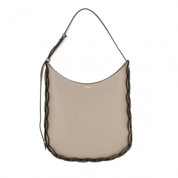 Handtasche, Chloé, Darryl Shoulder Bag Leather Motty Grey