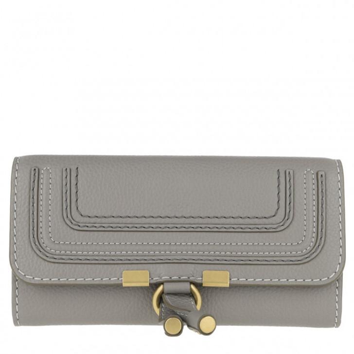 Geldbörse, Chloé, Marcie Wallet Large Cashmere Grey