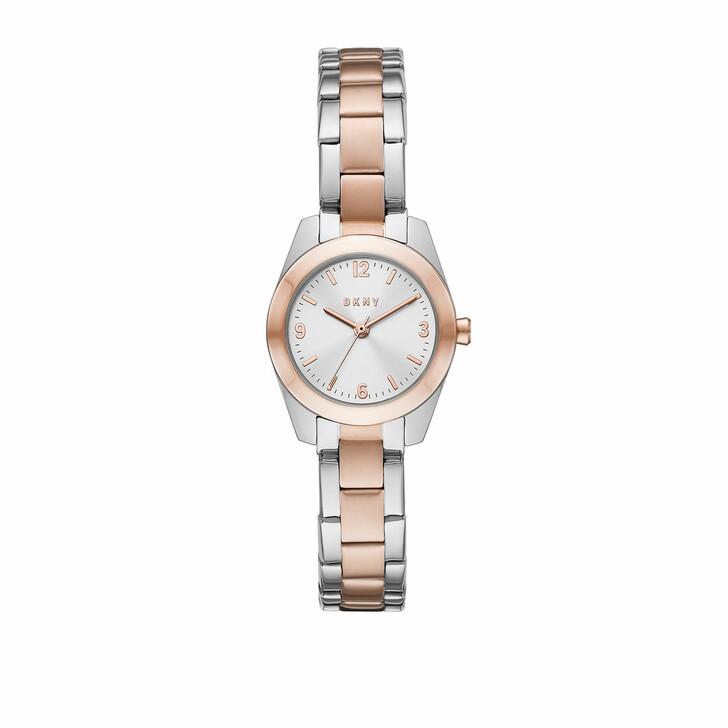 Uhr, DKNY, Nolita Three-Hand Stainless Steel Watch Silver/Rosé