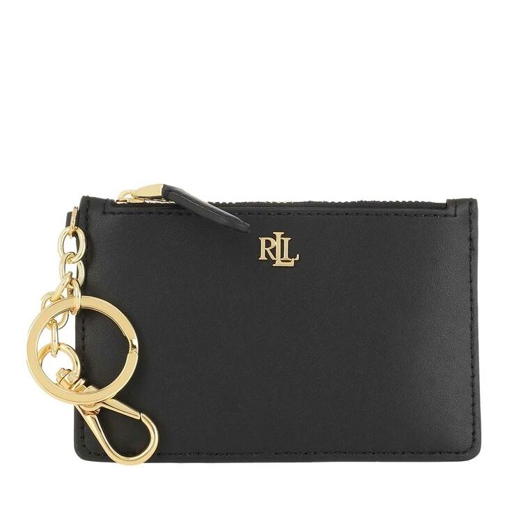 wallets, Lauren Ralph Lauren, Zip Card Cas Card Case Medium Black