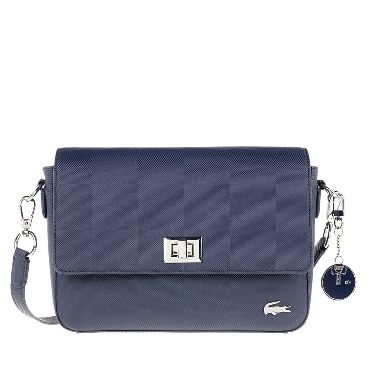 Handtasche, Lacoste, Daily Classic Flap Crossover Bag Marine