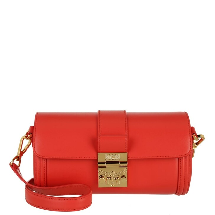 Handtasche, MCM, Small Tracy Crossbody Bag Red